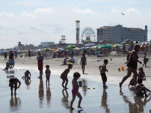 Ocean City Boardwalk Scene