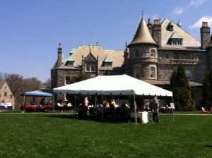 Author Tent at Rosemont Book Festival 2014
