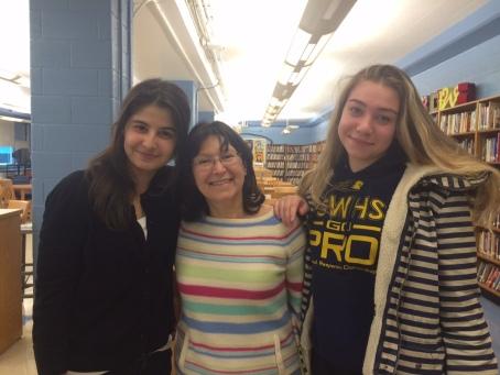 Lynn Levin with George Washington High Students